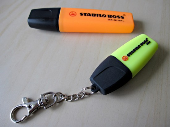 Stabilo Boss highlighter and USB