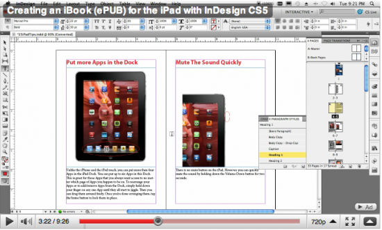 ePUB document layout