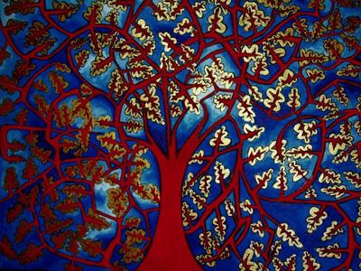 Illuminated Tree, by Haisla Collins
