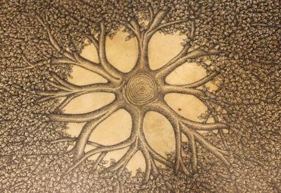 Tree Drum II detail, by Lawrence Lowe