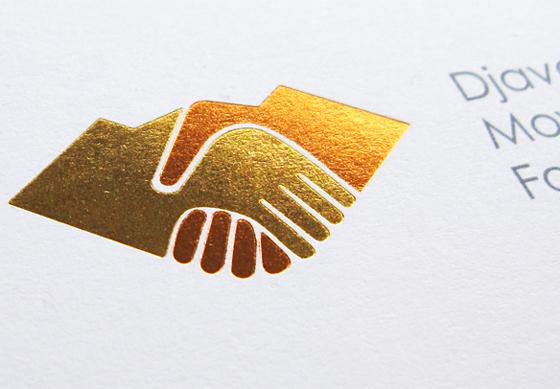 Djavad Mowafaghian Foundation logo close-up