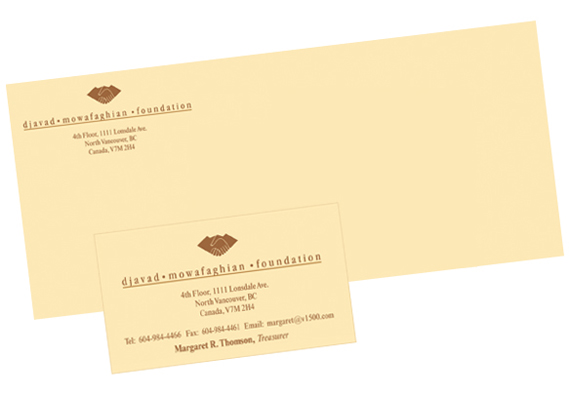Djavad Mowafaghian Foundation original stationery