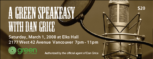 Green Party Speakeasy ticket