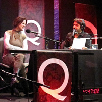 Q taping with Sarah McLachlan and Jian Ghomeshi