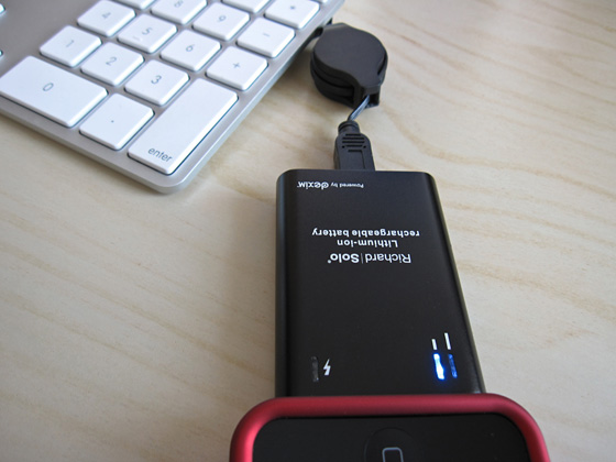 Richard Solo battery pack charging to USB