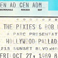 Pixies concert ticket 1989