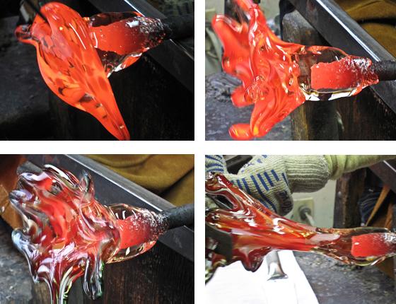 Glass Flower making