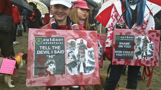 Barking Mad Rally protesters