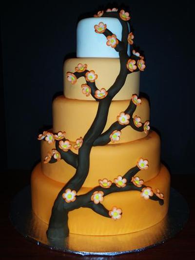 Orange Blossoms cake