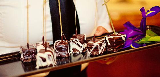 Tray of desserts
