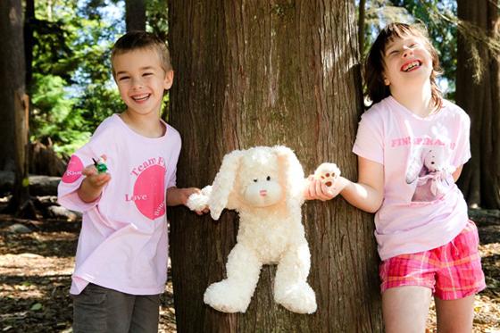Baird and Sarah with Finnspiration Bear