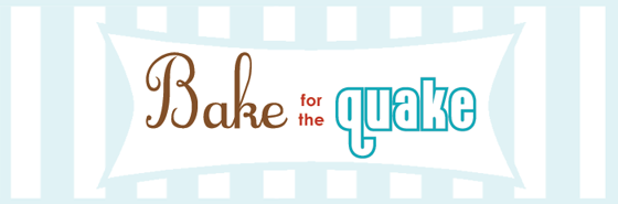 Bake for the Quake banner