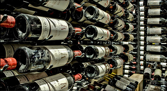 bistro cellar bottles