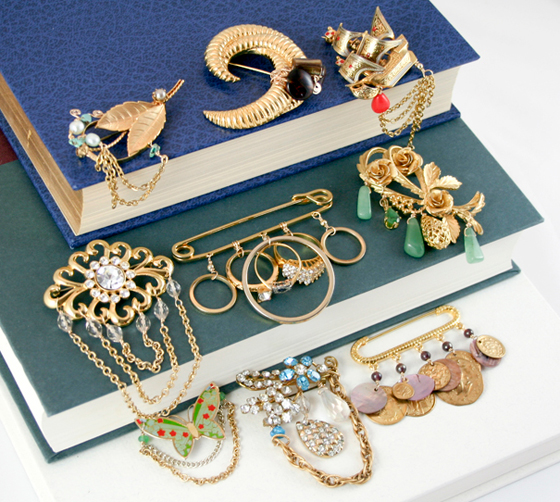Spring brooch collection