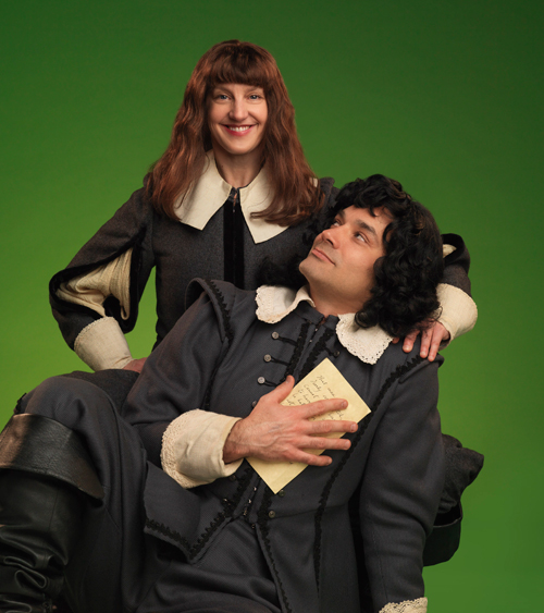 Rosalind (Lois Anderson) and Orlando (Todd Thomson)