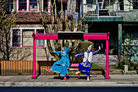 Bhangra Dancers by Maurice Li