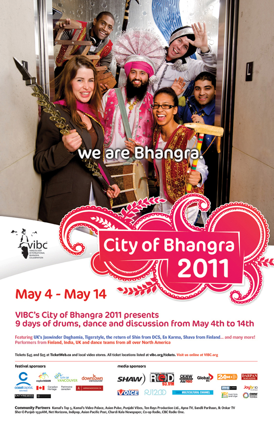 City of Bhangra event poster