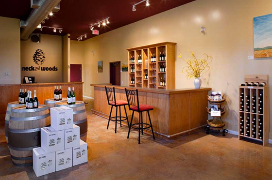 Neck of the Woods tasting room