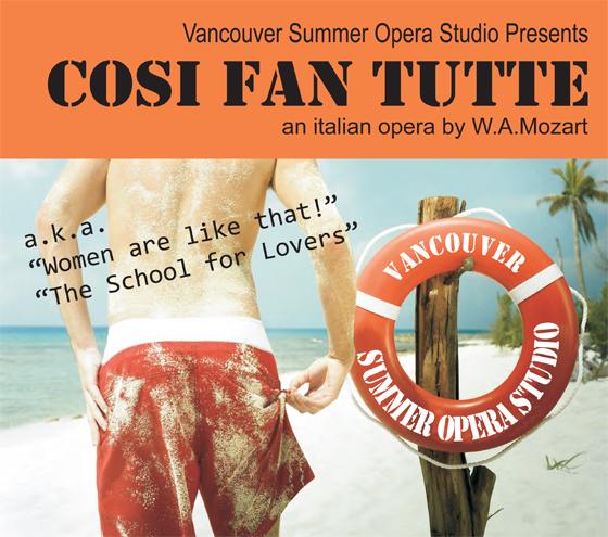 Cosi Fan Tutte event poster