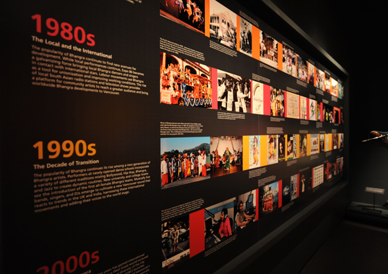 Bhangra Me music history wall