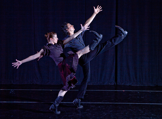 BalletMet Columbus' Olivia Clark and Jimmy Orrante in The Man in Black