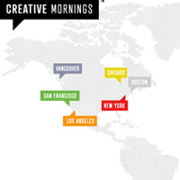 Creative Mornings global map