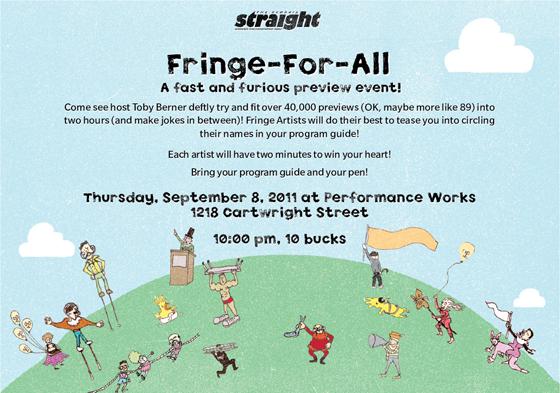 Fringe for all poster
