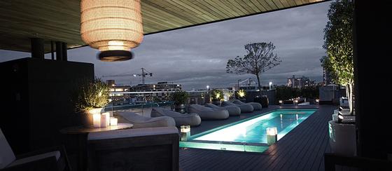 Keefer suites penthouse pool area