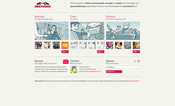 web design example - Ontstuimig