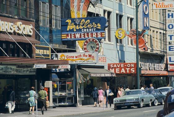 East Hastings Street circa 1969. Photo credit: Walter Griba