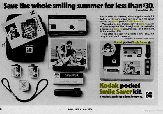 Kodak ad circa 1974