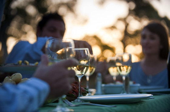 wines at the table, courtesy of Tourism Australia