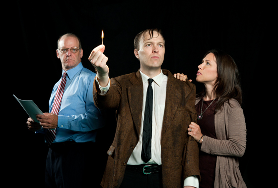 Andrew Wheeler, Evan Frayne, and Alexa Devine in Re:Union