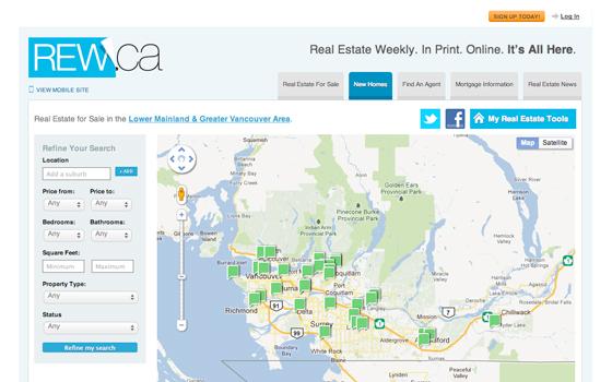 rew.ca real estate search
