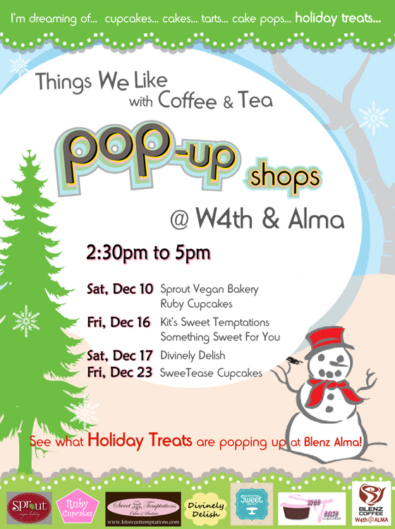 Blenz holiday popup poster