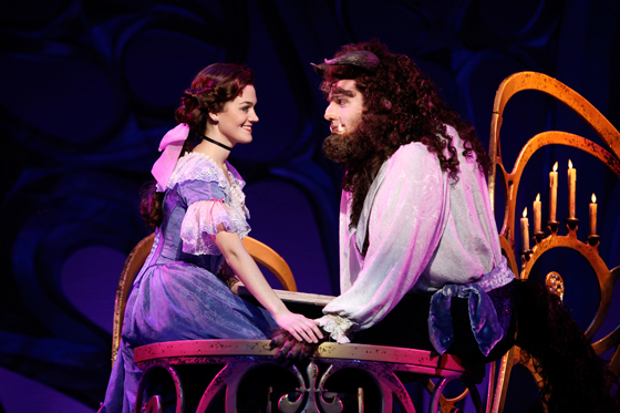 Liz Shivener as Belle and Justin Glaser as Beast