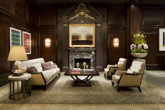 Rosewood Hotel Georgia Lobby Fireplace