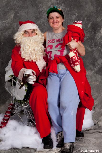 Teresa with Santa