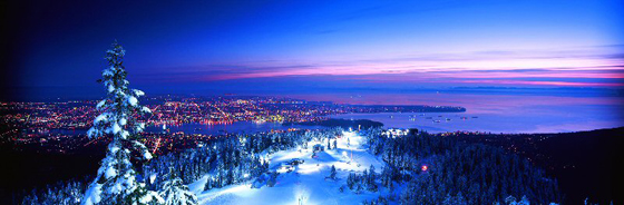 City view from the slopes