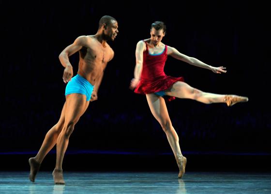 Ballet BC dancers Donald Sales and Alexis Fletcher