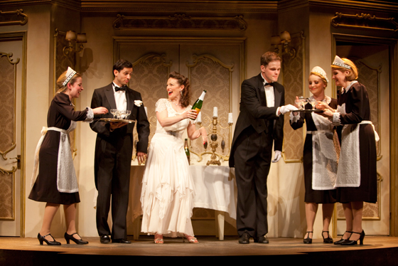 Jennifer Lines and High Society cast