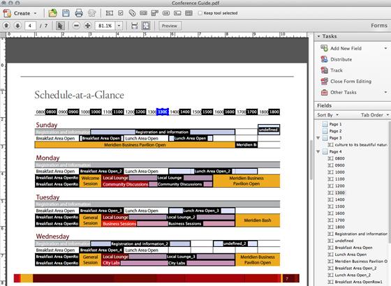 An editing form field
