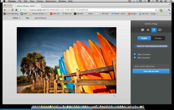 Creative Cloud sharing files