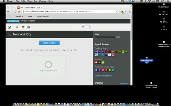 Creative Cloud uploading file