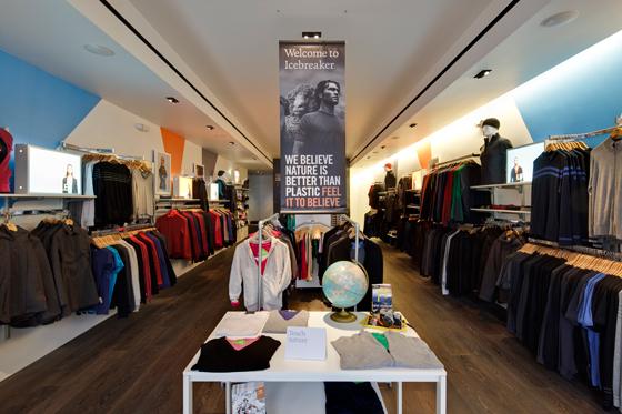 Icebreaker store interior