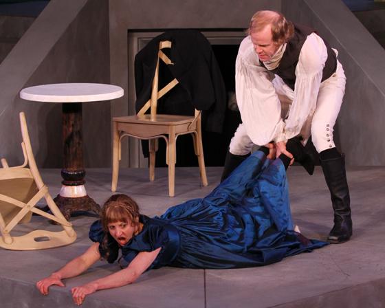 Kate (Lois Anderson), Petruchio (John Murphy)
