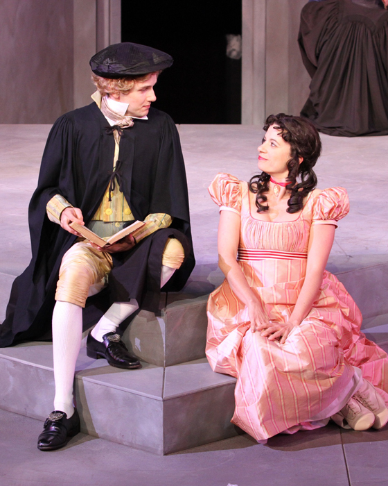 Lucentio (Anton Lipovetsky), Bianca (Dawn Petten)