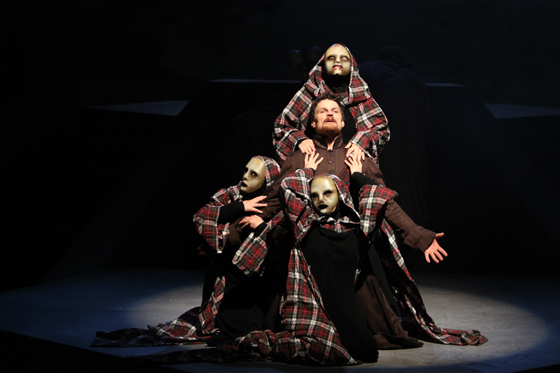 Macbeth and the three witch sisters