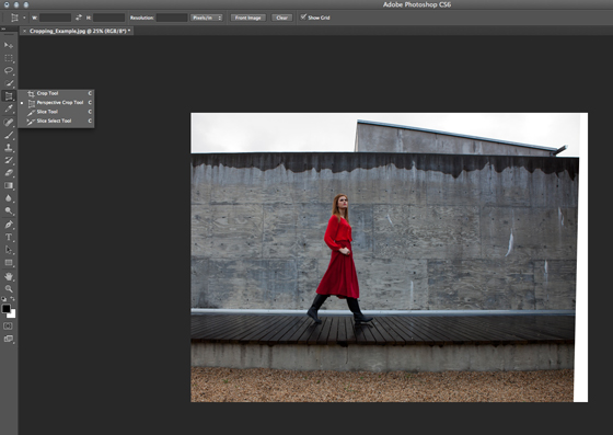 Selecting Perspective Crop Tool