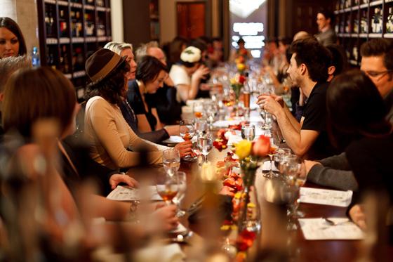 Whiskey dinner table